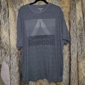 Mens 2X Reebok Gray Graphic T Shirt